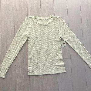 NWT Intimately Free People Women Ivory Top Sz M-L